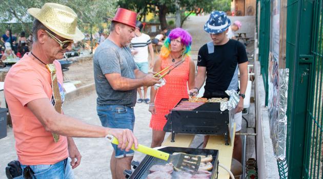 soiree barbecue camping la cigaliere